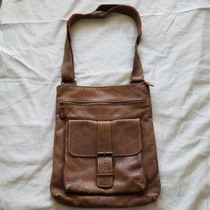 Roots Leather Messenger Bag